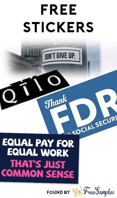 """4 FREE Stickers Today: """"Thank FDR for Social Security"""" Sticker, """"Equal Pay"""" Sticker, Rise Stickers & Qilo NYC Stickers"""