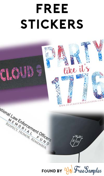 4 FREE Stickers Today: Party Like It's 1776 Sticker, Buckhead Sticker, Cloud 9 Griptape Stickers & Sign the Drive Safely Pledge Sticker