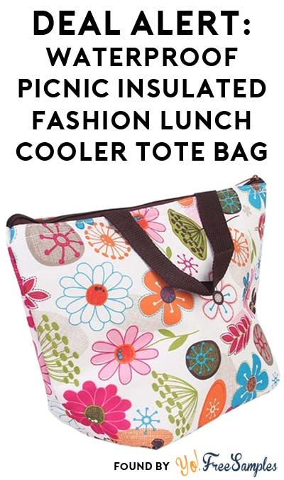 DEAL ALERT: Waterproof Picnic Insulated Fashion Lunch Cooler Tote Bag For Only $2.20