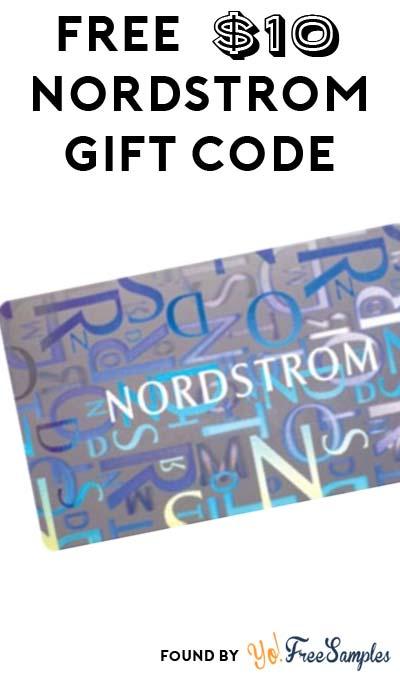 FREE $10 Nordstrom Gift Certificate For Joining Rewards Program