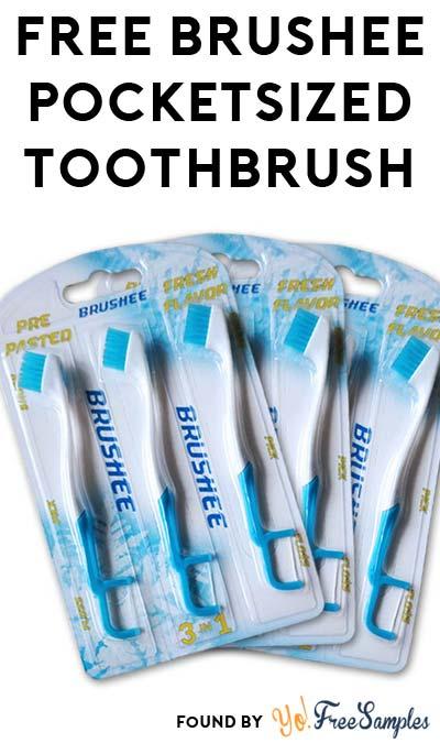 FREE Brushee Pocketsized Toothbrush Tester Sample
