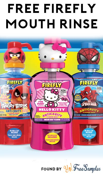 FREE Firefly Mouth Rinse At 3PM EST / 2PM CST / 12PM PST Daily This Week (Facebook / Not Mobile Friendly)