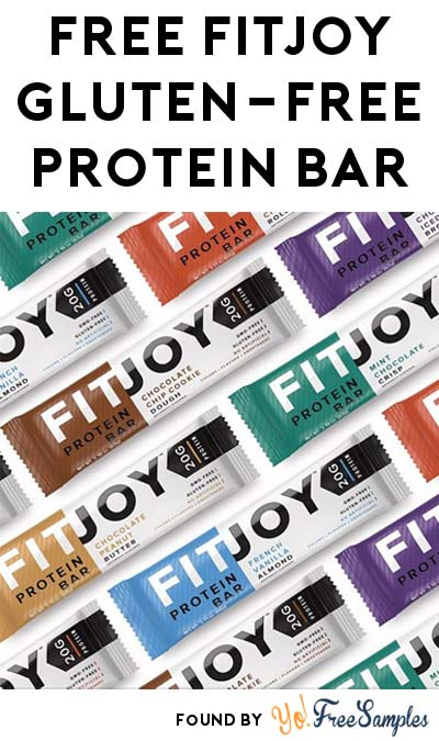 FREE FitJoy Gluten-Free Protein Bar [Verified Received By Mail]