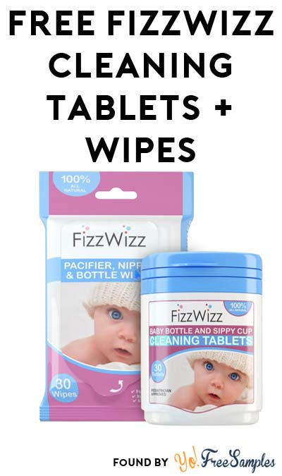 FREE FizzWizz Cleaning Tablets & Cleaning Wipes Sample
