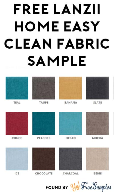 FREE Lanzii Home Easy Clean Fabric Sample