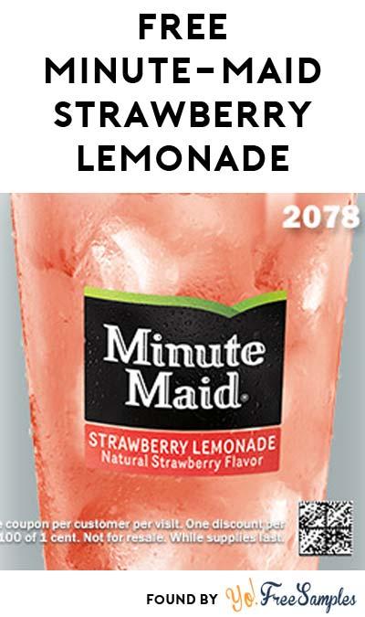 FREE Minute Maid Strawberry Lemonade at Carl's Jr Or Hardees