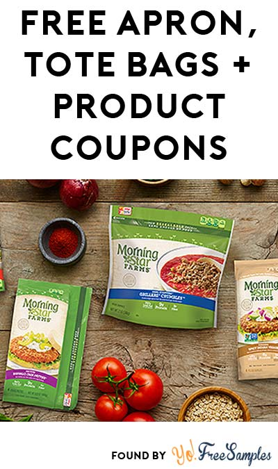 FREE Morningstar Farms Apron, Tote Bags, Product Coupons & More (Select Cities Only + Apply To Host Party)
