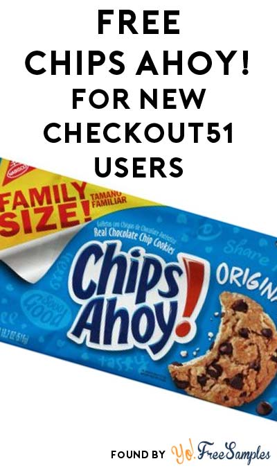 FREE Nabisco Chips Ahoy! Original Chocolate Chip Cookies 18.2 oz For New Checkout51 Users