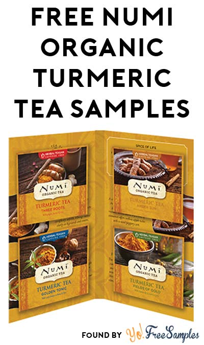 FREE Numi Organic Turmeric Tea Sample Pack At 1PM EST / Noon CST / 10AM PST (Facebook / Not Mobile Friendly)