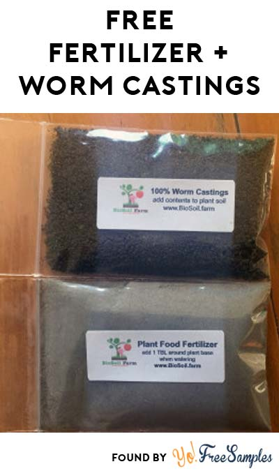 FREE Organic Plant Food Natural Fertilizer & Worm Castings Sample