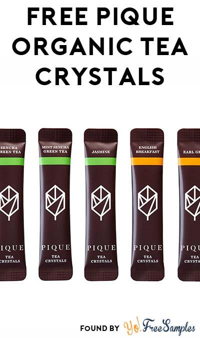 FREE Pique Organic Tea Crystals Sample