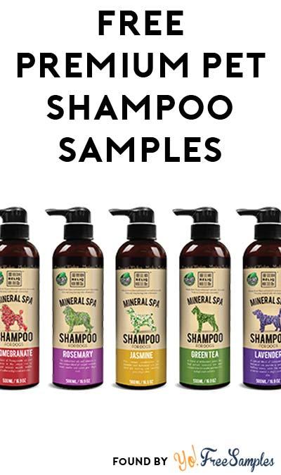 FREE RELIQ Premium SPA Pet Shampoo Samples At 5PM EST / 4PM CST / 2PM PST (Facebook / Not Mobile Friendly)