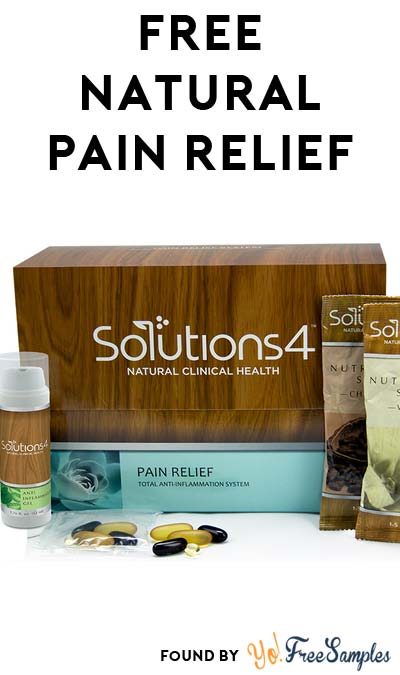 New URL: FREE Solutions4 Pain Relief System Kit
