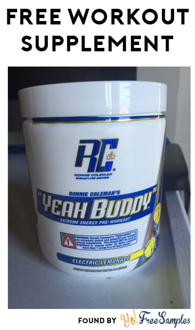"FREE Sour Berry Or Electric Lemonade ""YEAH BUDDY"" Extreme Energy Pre-Workout Supplement Sample [Verified Received By Mail]"