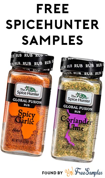 FREE SpiceHunter Coriander Lime or Spicy Garlic Global Fusion Rub Sample At 3PM EST / 2PM CST / 12PM PST (Facebook / Not Mobile Friendly)