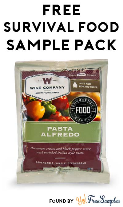 FREE Survival Food Sample Pack From Wise Company