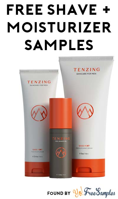 FREE Tenzing Men's Skin Care Shave Cream & Face Moisturizer Samples (Email Confirmation Required)