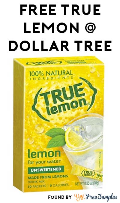 FREE True Lemon Drink Mix at Dollar Tree (Coupon Required)