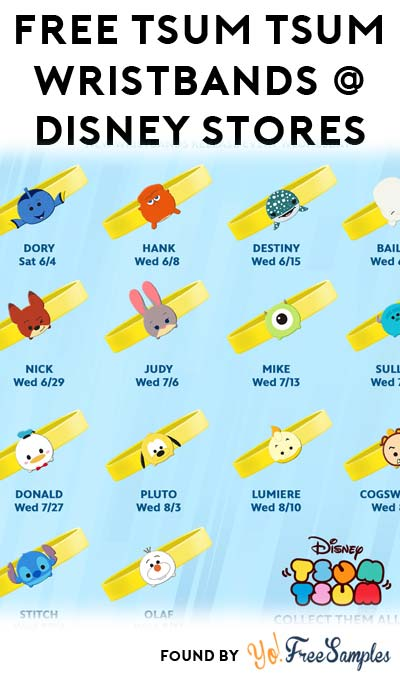 FREE Tsum Tsum Wristbands Every Week Until September 5th At Disney Stores