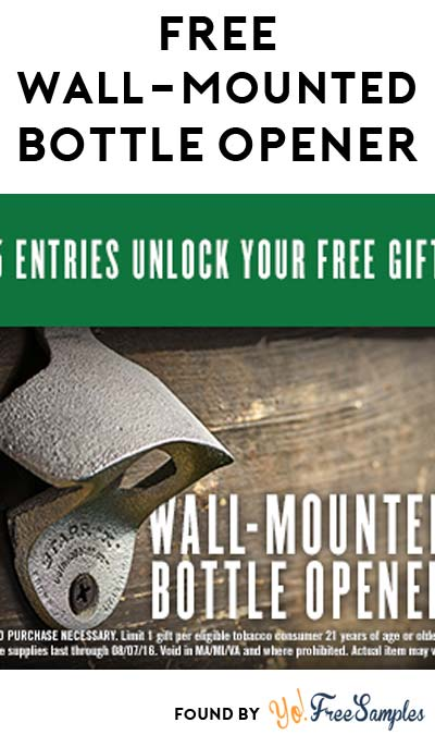 Enter Daily: Win A FREE Wall Mounted Bottle Opener & Other Sweet Daily Instant Win Prizes From Freshcope/Copenhagen