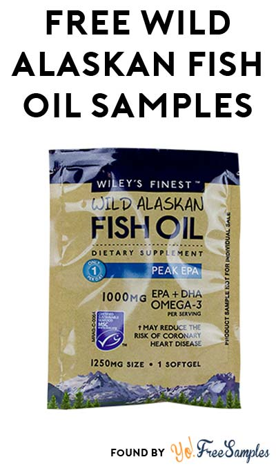 FREE Wiley's Finest Wild Alaskan Fish Oil Samples At 3PM EST / 2PM CST / Noon PST (Facebook / Not Mobile Friendly)