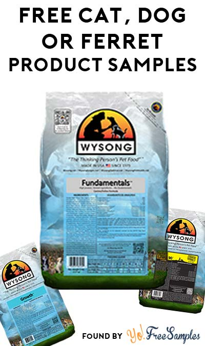 FREE Wysong Cat, Dog Or Ferret Product Samples (Email Confirmation Required)