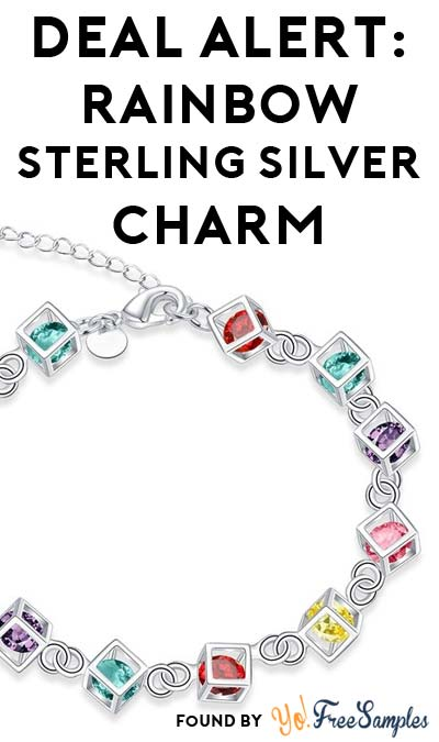 DEAL ALERT: 100% OFF Rainbow Colored Rubix Cube Sterling Silver Charms ($4.99 Shipping Required)