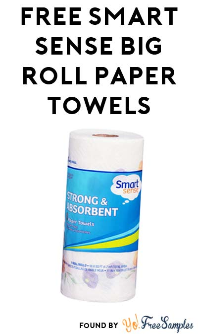 TODAY ONLY: FREE Smart Sense Big Roll Paper Towels at Kmart