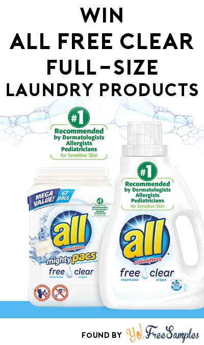 Win FREE All Free Clear Full-Size Laundry Products