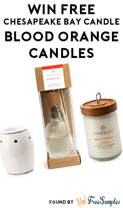 Win FREE Chesapeake Bay Candle Blood Orange Candles