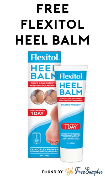 LINK FIXED: FREE Flexitol Heel Balm Sample
