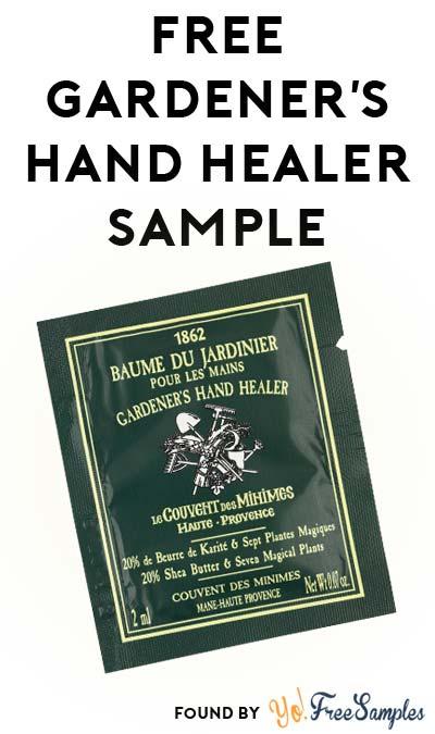 FREE Gardener's Hand Healer Sample