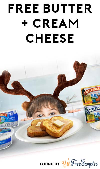 FREE Challenge Butter & Cream Cheese At 3PM EST / 2PM CST / Noon PST (Facebook / Not Mobile Friendly)