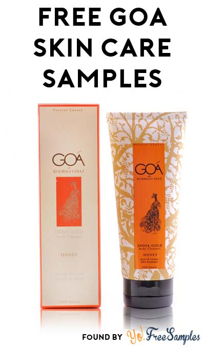 FREE Goa Men's Premium Skin Care Samples