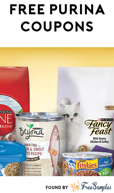 FREE Purina Coupons For First 500 People Every Monday Until End Of July