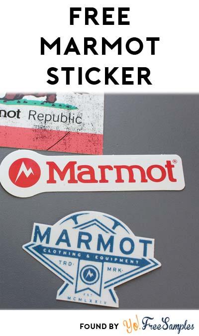 FREE Marmot Sticker