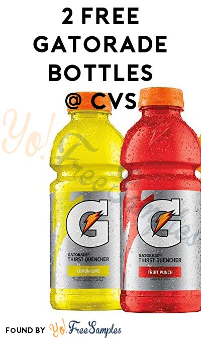 2 FREE Gatorade Bottles at CVS (ExtraCare Card Required)