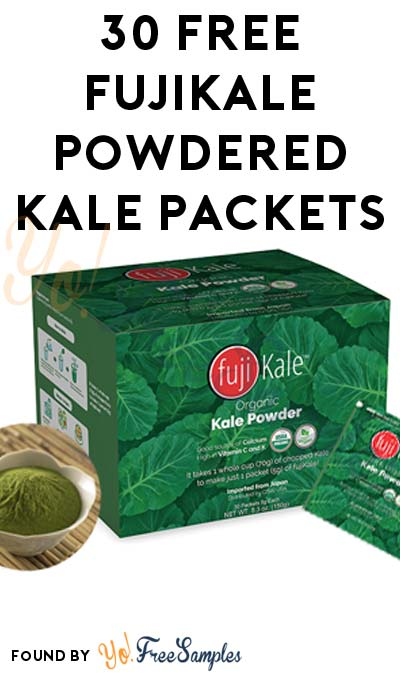 30 FREE fujiKale Organic Powdered Kale Individual Packets [Verified Received By Mail]