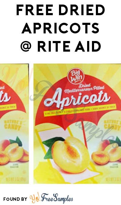 4 FREE Big Win Dried Apricots At Rite Aid