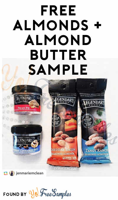 FREE Legendary Foods Almonds + Almond Butter Sample (Email & Instagram Required)