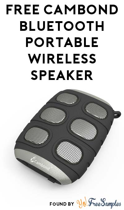 FREE Cambond Bluetooth Portable Wireless Speaker (Amazon Review Required)