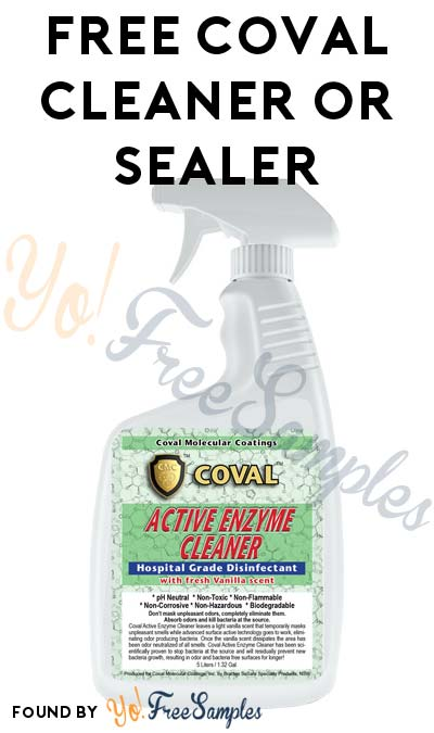FREE Coval Active Enzyme Cleaner or Coval Multi-Purpose Sealer From RuggedSafety.com