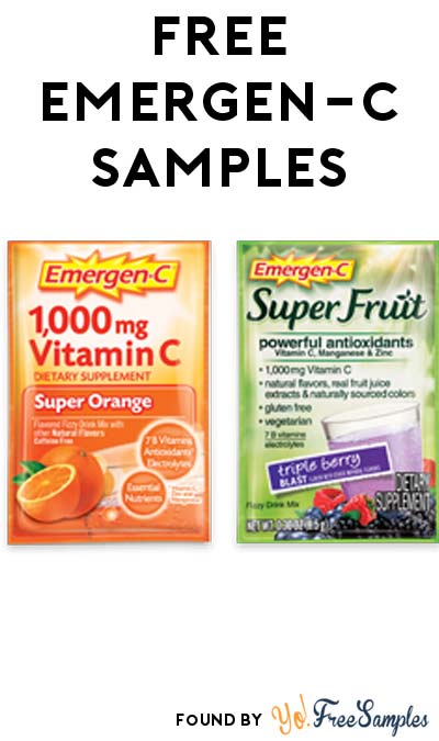 FREE Emergen-C Sample Packs [Verified Received By Mail]