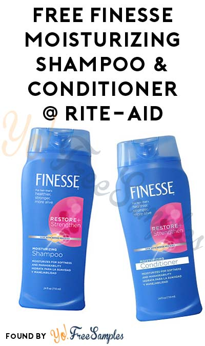 FREE Finesse Moisturizing Shampoo & Conditioner At Rite Aid (Ibotta Required)