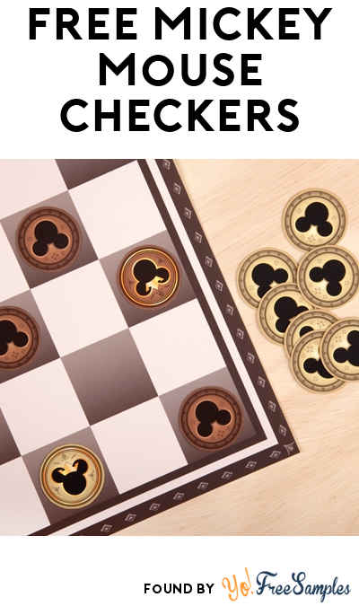 FREE Mickey Checkers & Board Printable