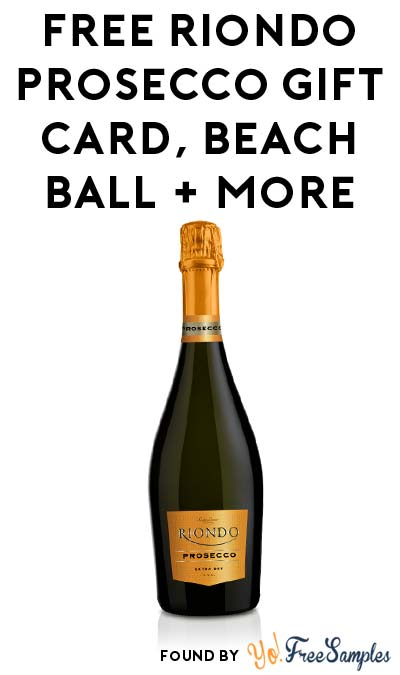 FREE Riondo Prosecco Gift Card, Beach Ball & More (Apply To Host Party)