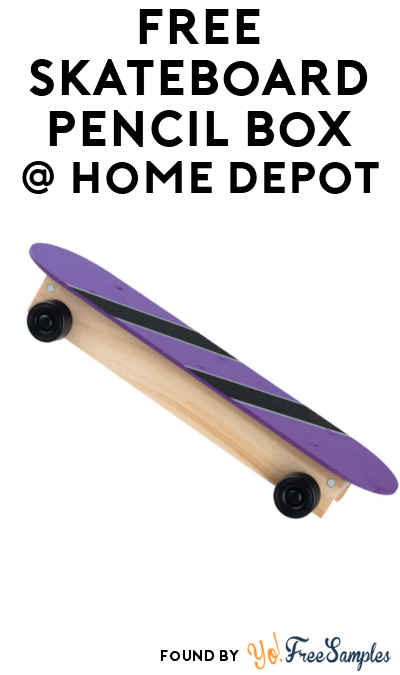 FREE Skateboard Pencil Box For Kids at Home Depot on August 6th 2016 9AM-12PM