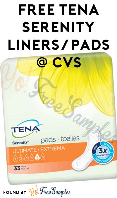FREE Tena Serenity Liners/Pads At CVS (Coupon & Ibotta Required)