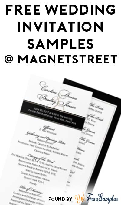 FREE Wedding Invitation Samples From MagnetStreet