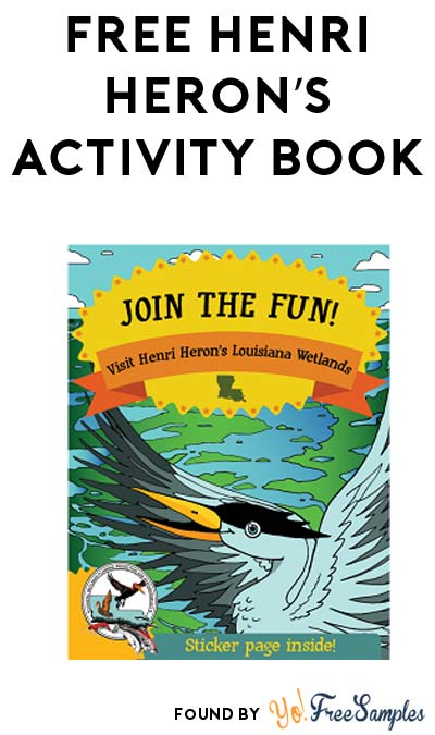 Teachers & Educators Only: FREE Henri Heron's Activity Book & Other Wetlands Preservation Resources From CWPPRA